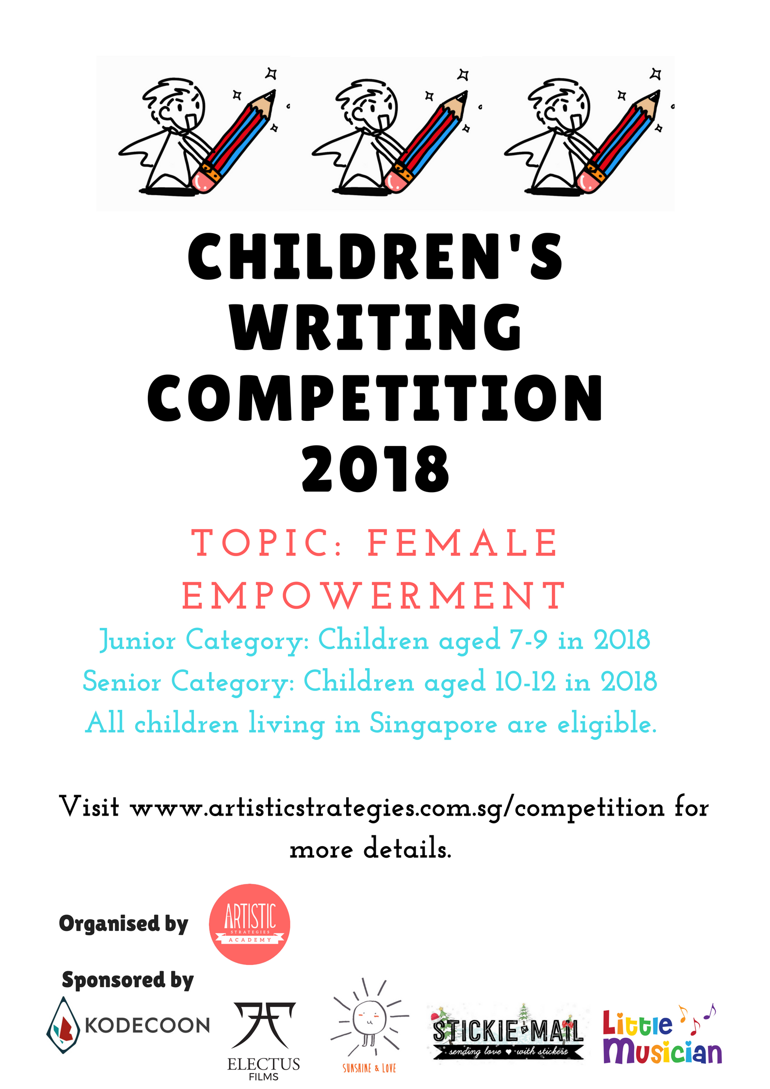 childrens writing contests 2018