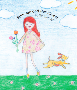 Sum Jyu and Her Flower by Teh Sum Jyu