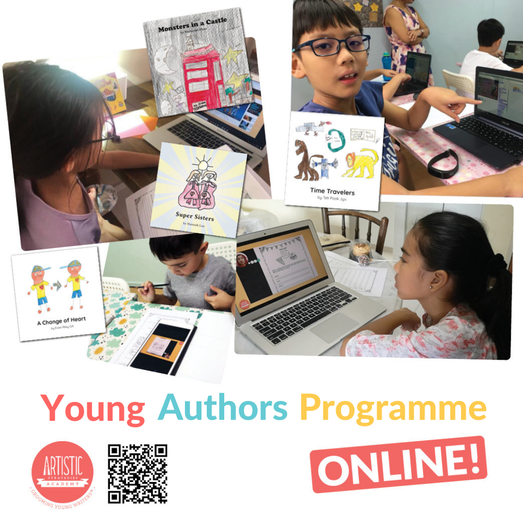 Young Authors Programme online square poster