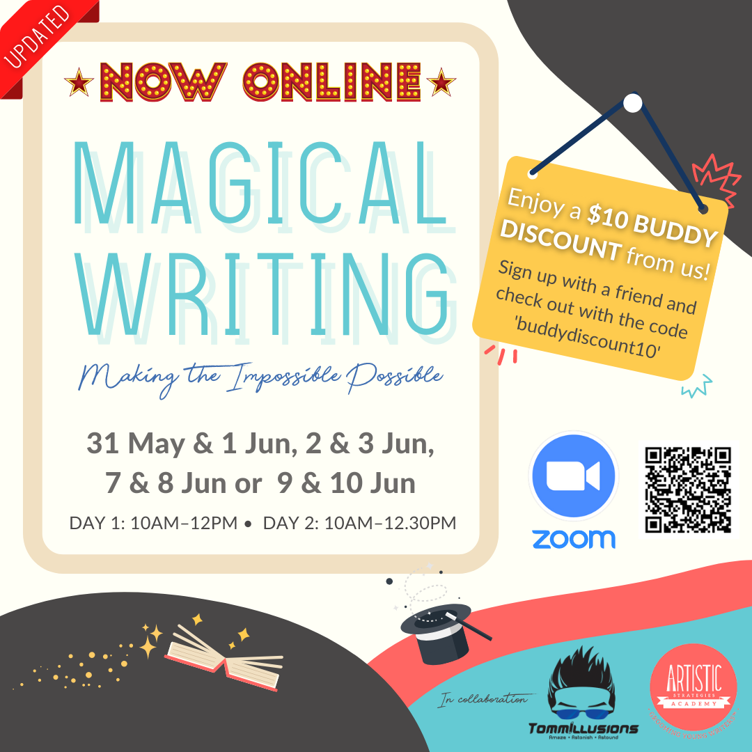 Poster for holiday workshop titled Magical Writing: Making the Impossible Possible
