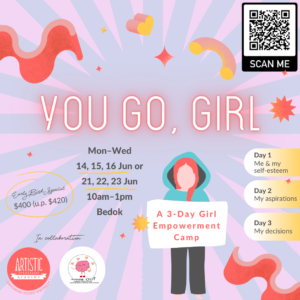 Collateral for You Go Girl holiday camp