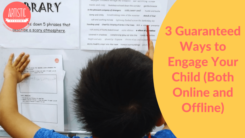 """Blog Banner for """"3 Guaranteed Ways to Engage Your Child (Both Online and Offline)"""